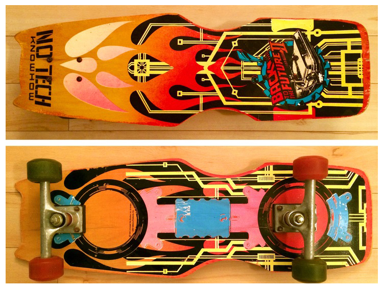 My 1989 Valterra skateboard that is a replica of Data's hoverboard in  BTTF 2 .