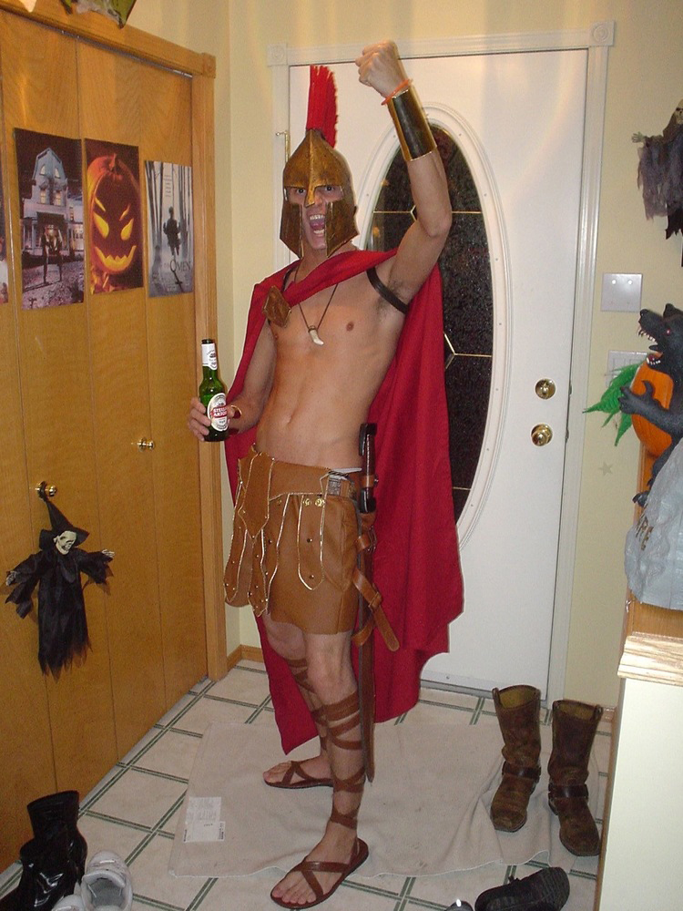 King Leonidas from  300  - Halloween 2007