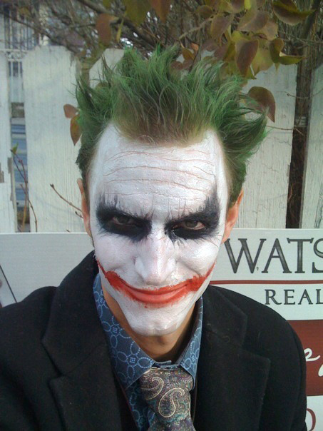 The Joker from  The Dark Knight  - Halloween 2008.