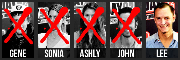 Elimination Order. First off Gene, then Sonia, then Ashly, then John.