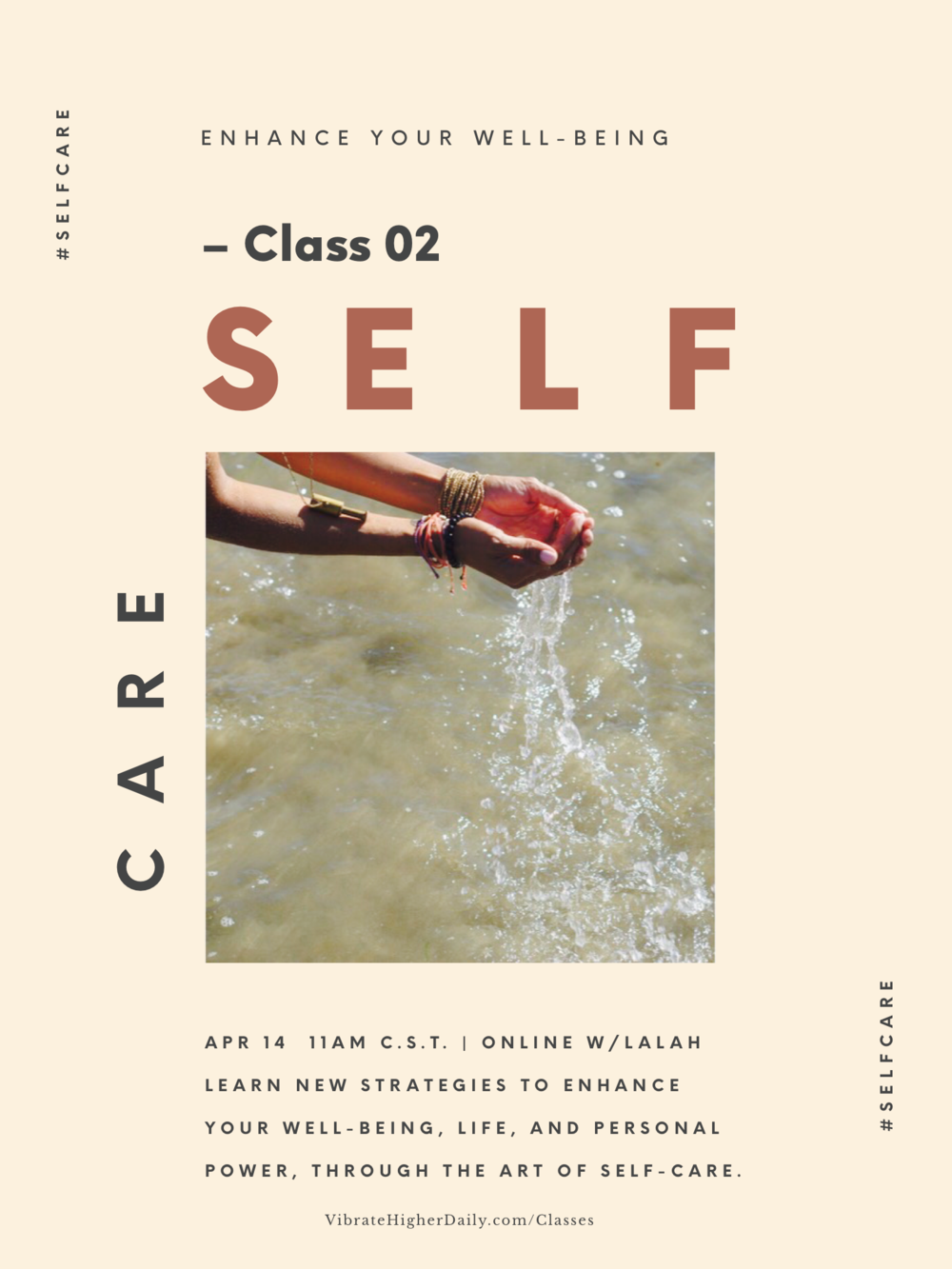 Self-Care - Learn the essentials and more. Discover strategies to restore, nurture, soothe, and enhance your well-being: mind, body, spirit, and amp up personal power, through this Self-Care class.$15