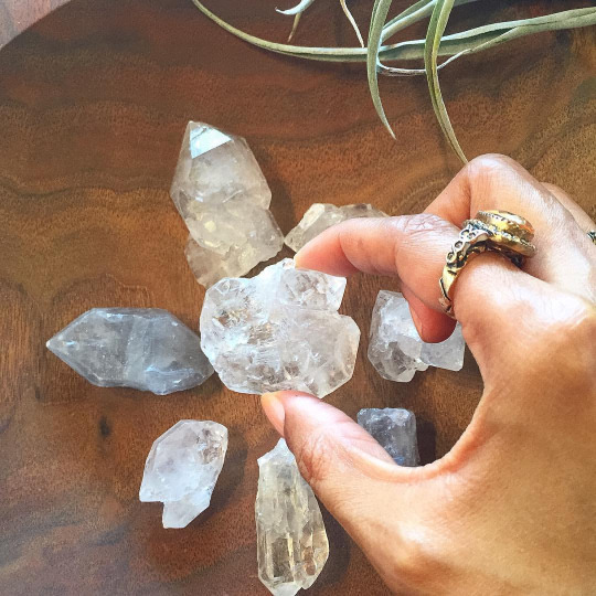 vibratehigherdaily :       'No, I do not worship crystals.'    How many times have I had to say THAT statement!?😑😁😩🤗😌☺️  I use them as the tools that The Most High created them to be. I pray that the awareness of everything in nature, the elements, in healthy food, plants, herbs and in frequency, energy and vibration, will no longer be reduced to the limiting tittle 'new age' or 'pagan' and be removed from the man made box/prison of religious misconceptions and taboos, and respected and honored as the divine gifts and tools given freely for all inhabiting the earth- to use. In particular, crystals are tools, complements of the one True God that created this universe and all others. Most people do not realize that crystals have been placed in your television, clocks and watches, which means you've been using crystals all along, to make life a bit more easier, in various daily ways. Crystals are not placed in electronic devices for any other reason, than that they are powerful tools and they really work. There are so many more ways that crystals can be of practical assistance in everyday life, from supporting good health, to mind clearing, to energy clearing and to helping the radiation levels from your electronic devices in your home neutralize….and so much more. I'm not down with the man made poisons, chemicals, processed food and low frequencies- which are all negatively mind altering and controlling, being forced everywhere from food supply, water supply, t.v., music, and so on…which are all seen as normal, yet things of the natural earth that God made and that heal, cleanse, protect and raise vibrations are seen as taboo or 'evil'. Naw. The Book Of Stones is a great book for crystal and gemstone collectors and seekers curious of the natural proprieties, attributes and benefits that they offer. -Lalah Delia | Vibrate Higher Daily