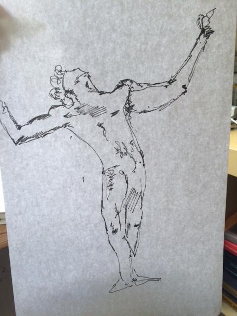 "The conceptual sketch for ""Amen"""