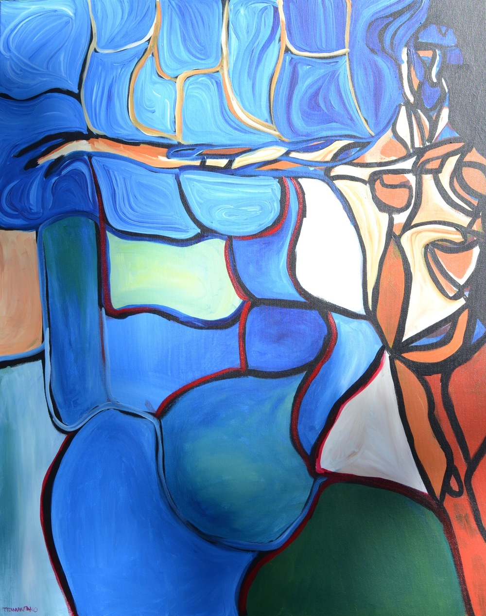 """""""Aphrodite's Reach"""" is 40"""" x 50"""" tribute to the reach of human beauty; beauty as a form of triumph"""