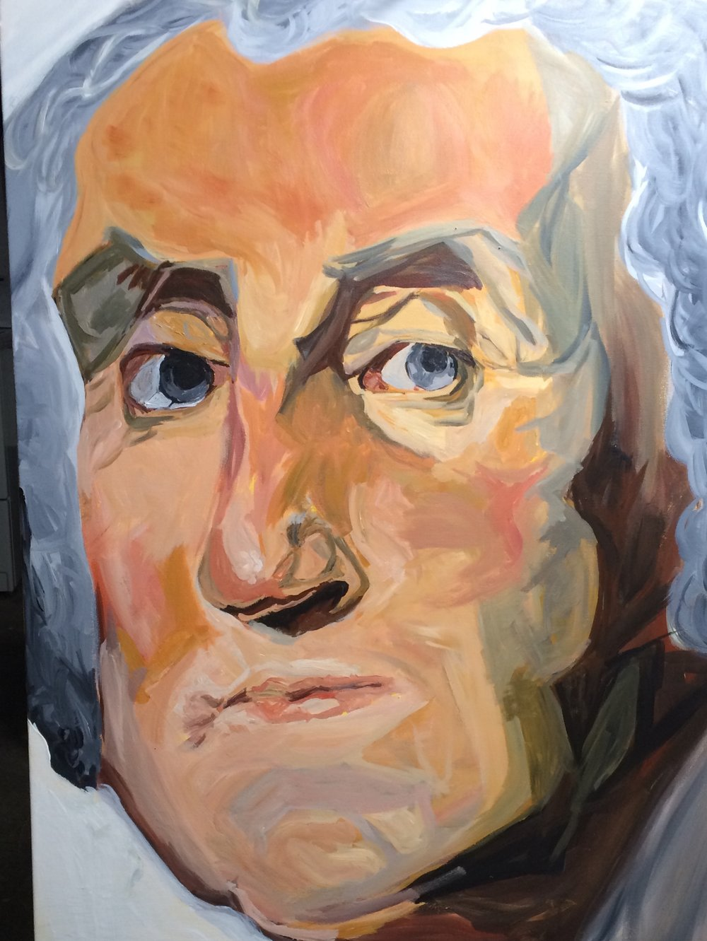 "I painted George Washington on 30""x40"" canvas between January 13, 2017 - January 17, 2017"