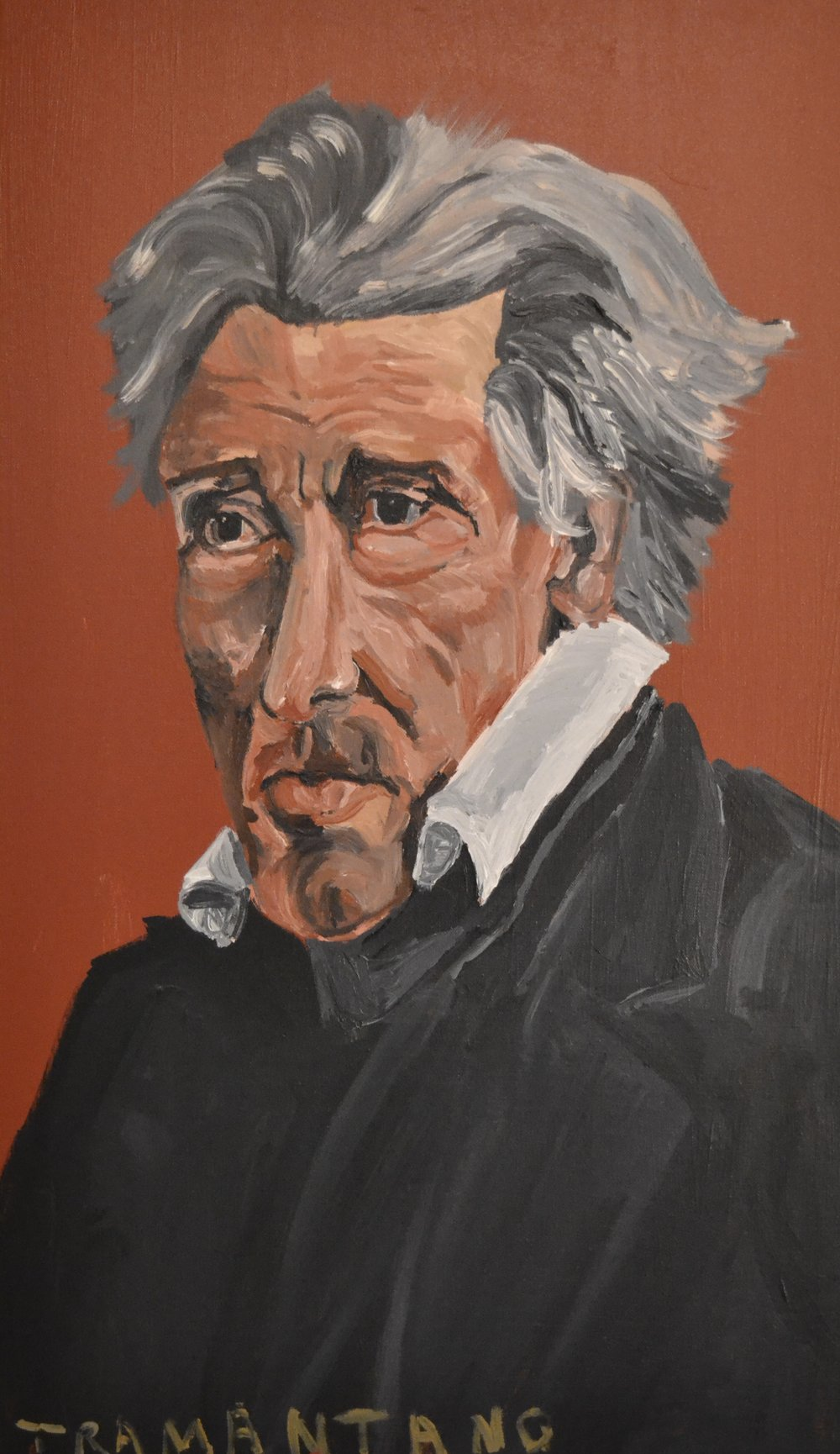 "Painted From August 11 to August 14, 2017, Andrew Jackson is on 20""x33"" canvas"