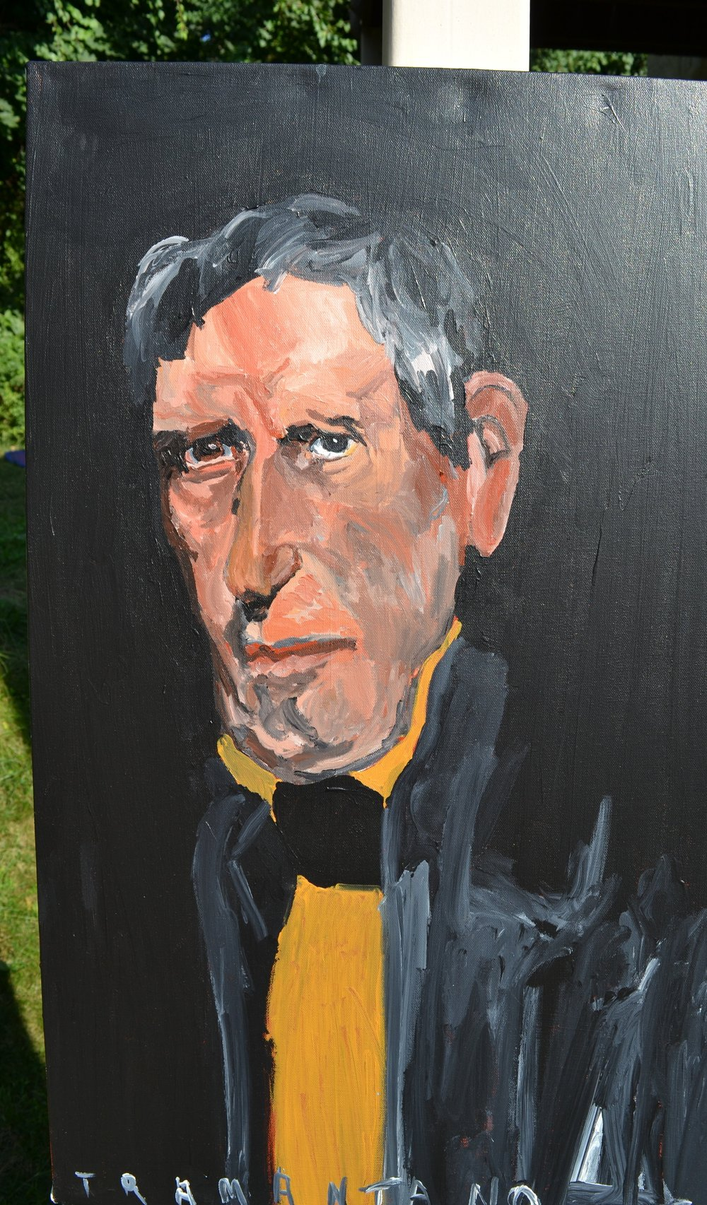 "William Henry Harrison was painted on 20""x33"" canvas on August 17, 2017"