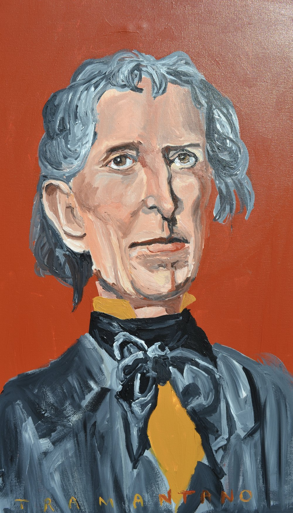 "John Tyler was painted from August 14 to 17 of 2017 on 20""x33"" canvas. This was not the first Tyler. I painted on back in March, but was dissatisfied with it. I painted over it and it is now where George H.W. Bush is portrayed."