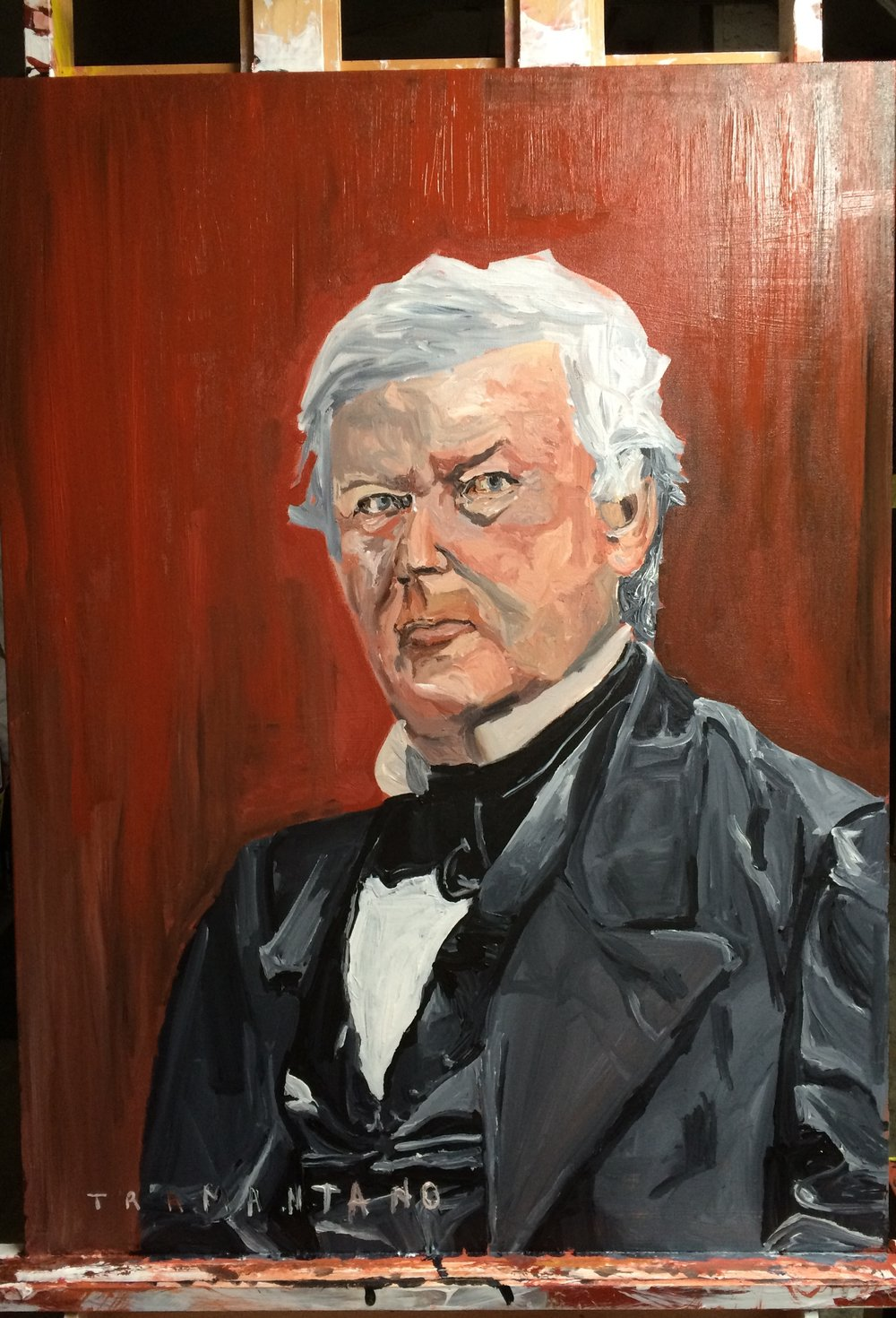 "Millard Fillmore was painted from July 3-12, 2017 on 30""x40"" canvas"