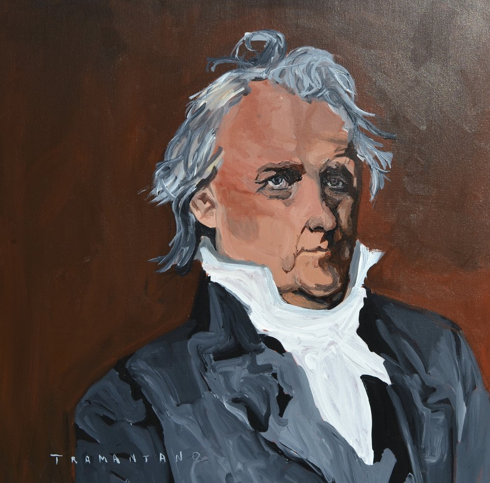 "Painted from May 9 to May 11 of 2017, James Buchanan is on 30""x30"" canvas"