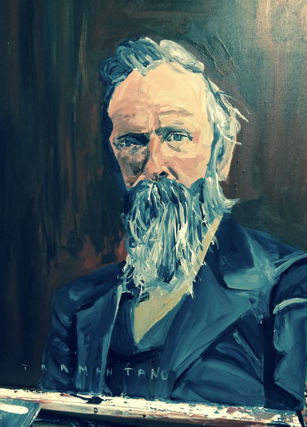 "Rutherford Hayes was painted from July 26 to 27 of 2017 on 30""x40"" canvas"