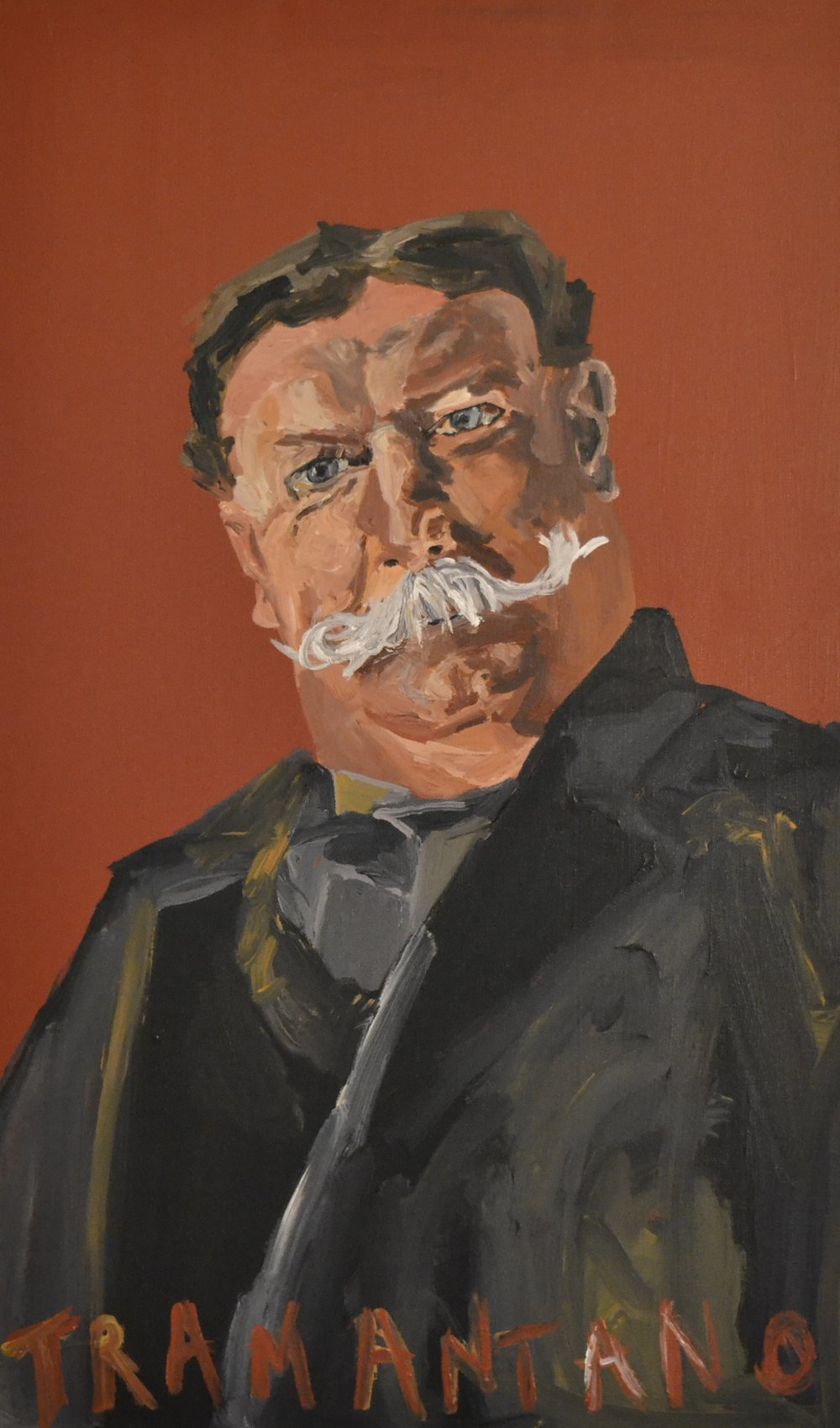 "The portrait of William Howard Taft was painted on August 9, 2017 on 20""x33"" canvas"