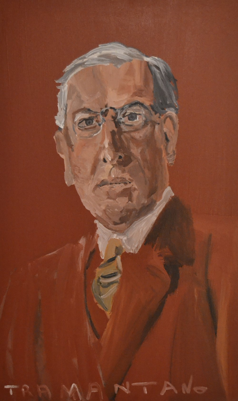 "Woodrow Wilson was painted on August 9, 2017 on 20""x33"" canvas"