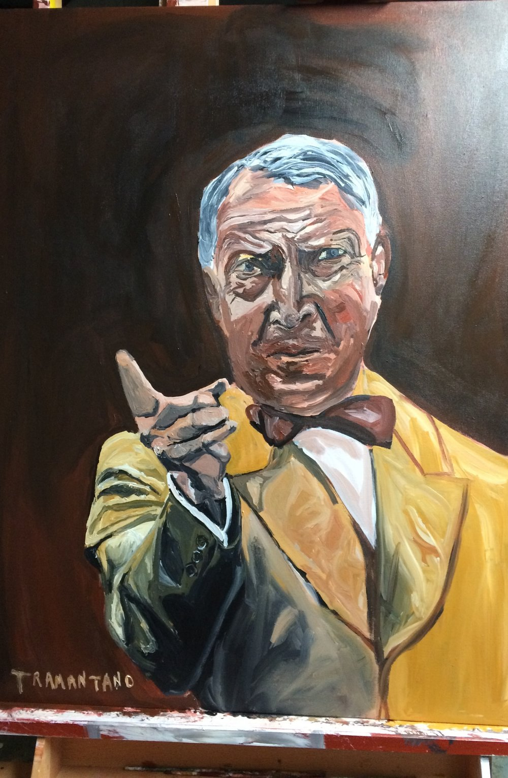 "Warren Harding was painted from May 22 to June 4 of 2017 on 30""x40"" canvas"