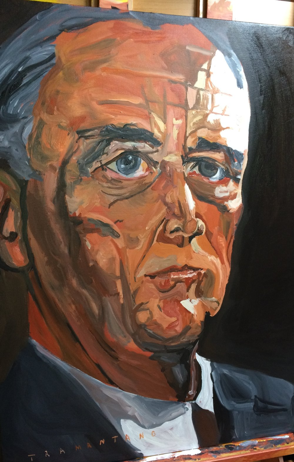"FDR was painted from April 23 to May 6 of 2017 on 30""x40"" canvas"