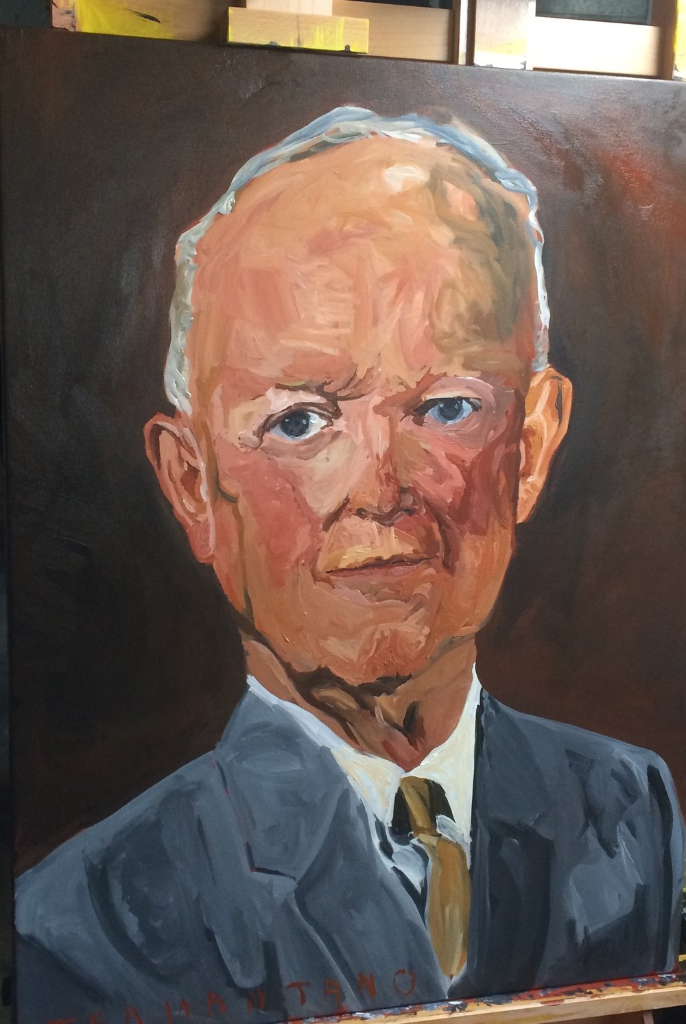 "Eisenhower was painted from April 14 to 17 of 2017 on 30""x40"" canvas"