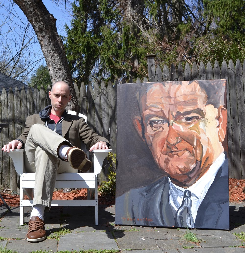 "LBJ was painted April 10-11, 2017 on 30""x40"" Canvas"