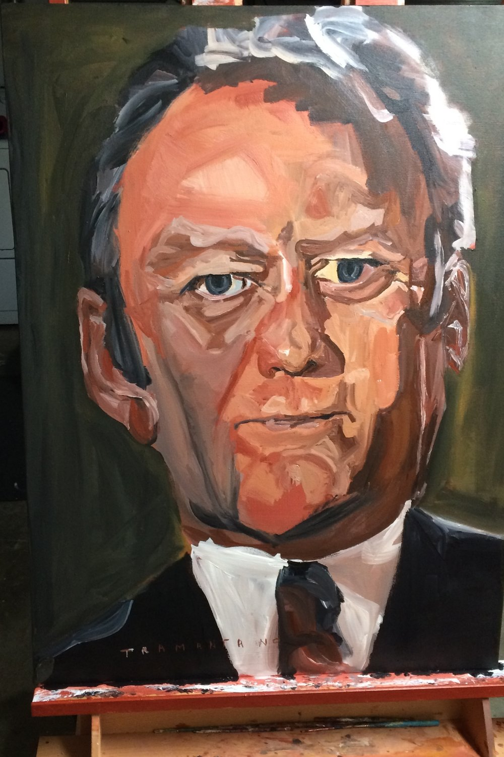 "President Ford was painted on May 21, 2017, on 30""x40"" canvas"