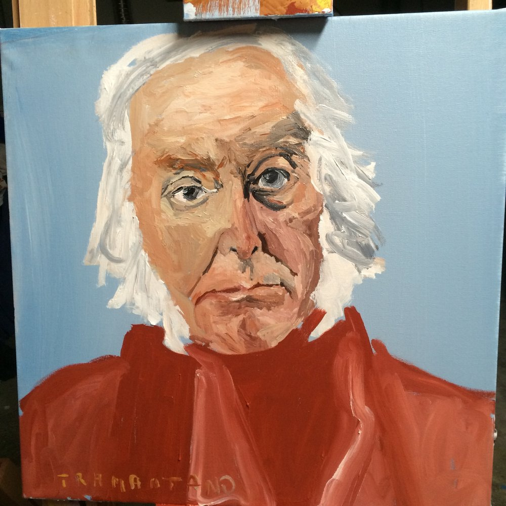 "John Quincy Adams was painted on 20""x20"" on August 31, 2017."
