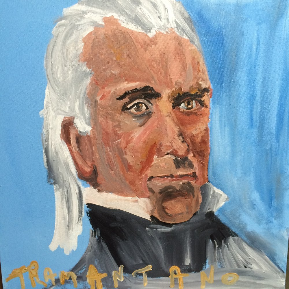 "Polk was painted from September 8-9, 2017 on 20""x20"" canvas."