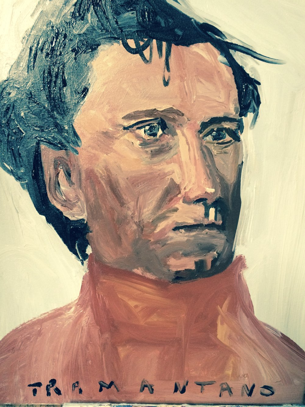 "Franklin Pierce was painted September 12 to 13, 2017 on 20""x20"" canvas."