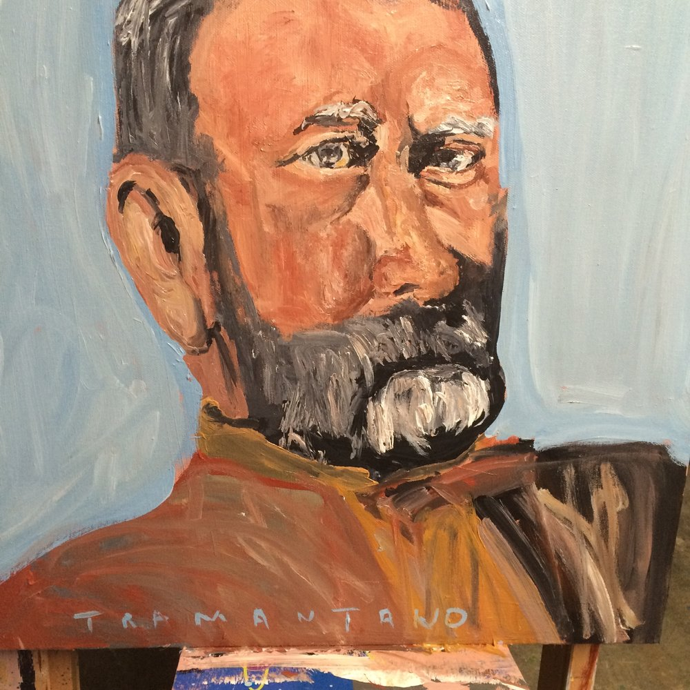 "Grant was painted on September 4, 2017, on 20""x20"" canvas."