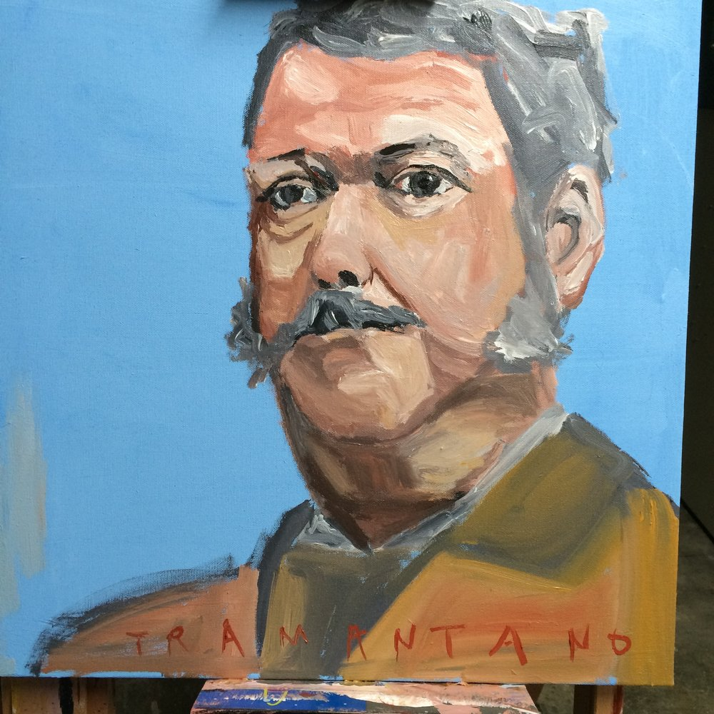 "Chester Arthur was painted on September 9, 2017, on 20""x20"" canvas."