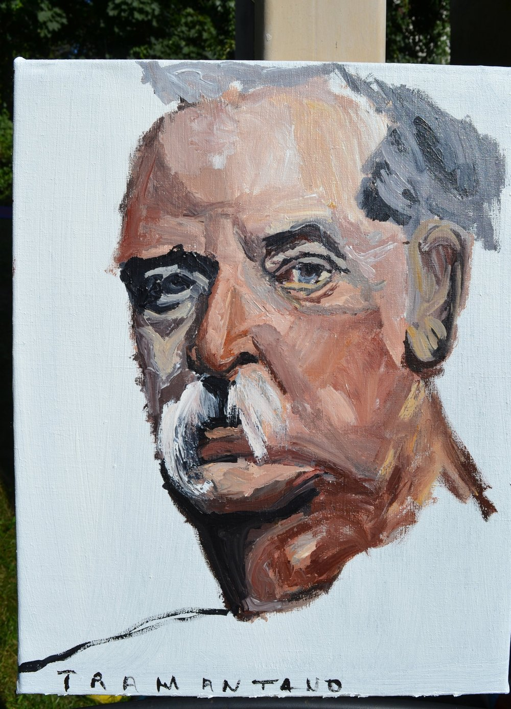 "The first portrait of Grover Cleveland was painted August 29, 2017, on 16""x20"" canvas."