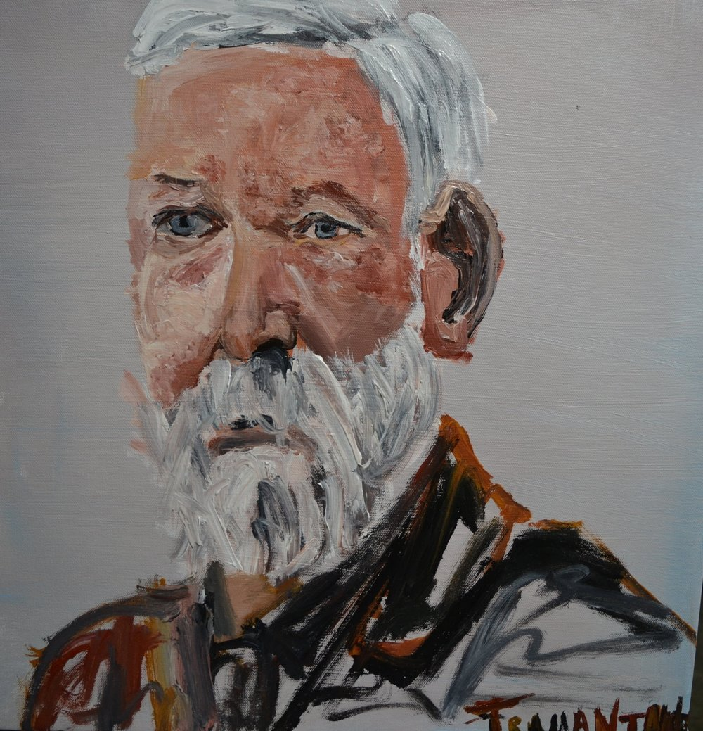 "Benjamin Harrison was painted on 20""x20"" canvas on September 1, 2017."
