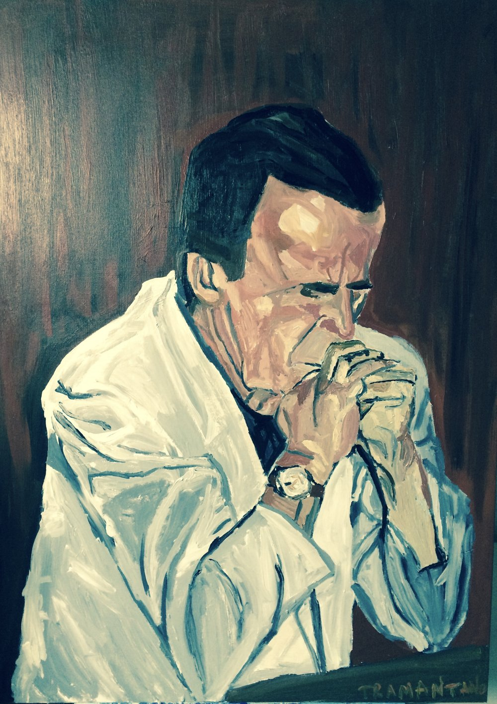 "George H.W. Bush was painted from September 16-17, 2017, on 30""x40"" canvas."