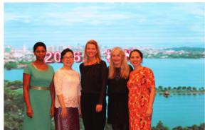 Pictured above are Bessie (Malawi), Wisiri (China/Thailand, Christina (Denmark), Annette (Sweden) and Amita (Australia).