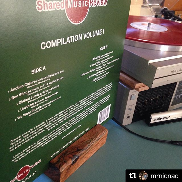 It's pretty cool to see this record spinning. A lot of love & work went into it... #Repost @mrnicnac with @get_repost ・・・ It is only right that the first thing I display on my record holder made by @midwestwoodcraft is one that features his incredible guitar playing. Also heard is @mrshentges with the hot accordion licks