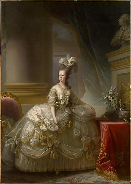 Élisabeth Louise Vigée Le Brun,Marie Antoinette in Court Dress,1778.Kunsthistorisches Museum, Vienna, Gemäldegalerie