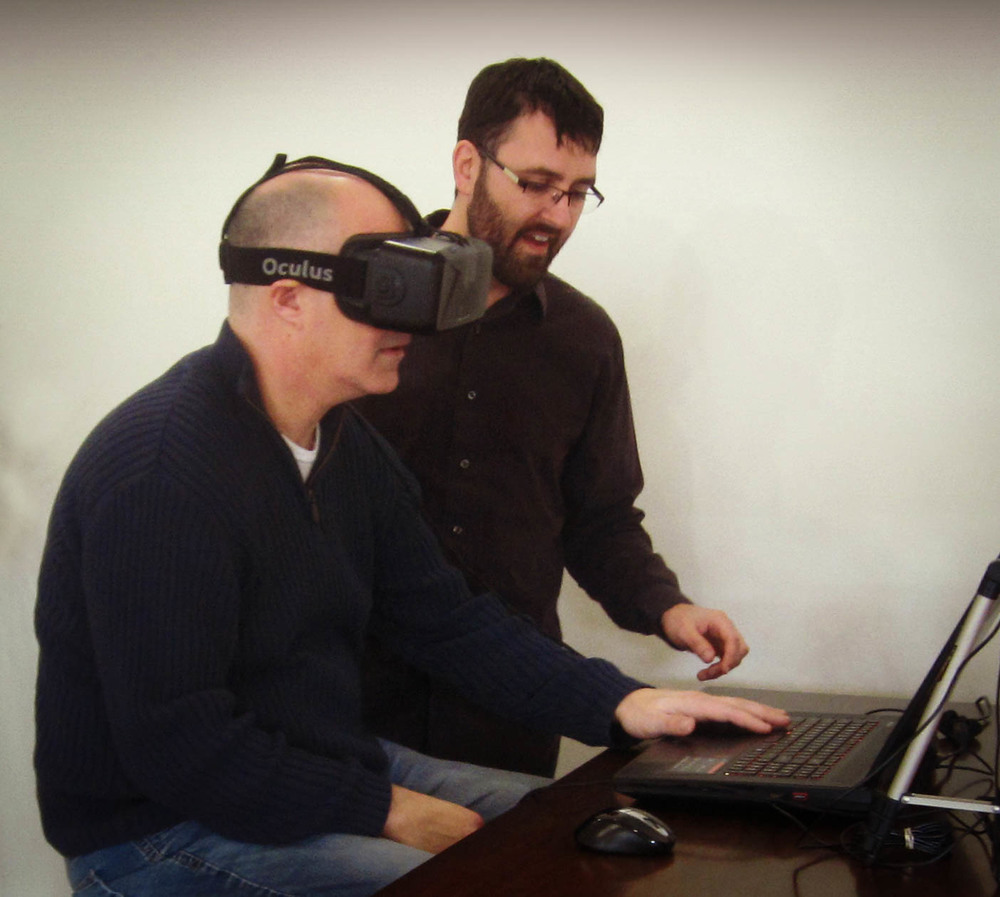 Omaha architect gives demonstrations of virtual reality (VR) with tours of custom homes and commercial offices. Clients are amazed at the ability to walk through buildings and experience projects prior to construction. Projects include sustainable, green construction.