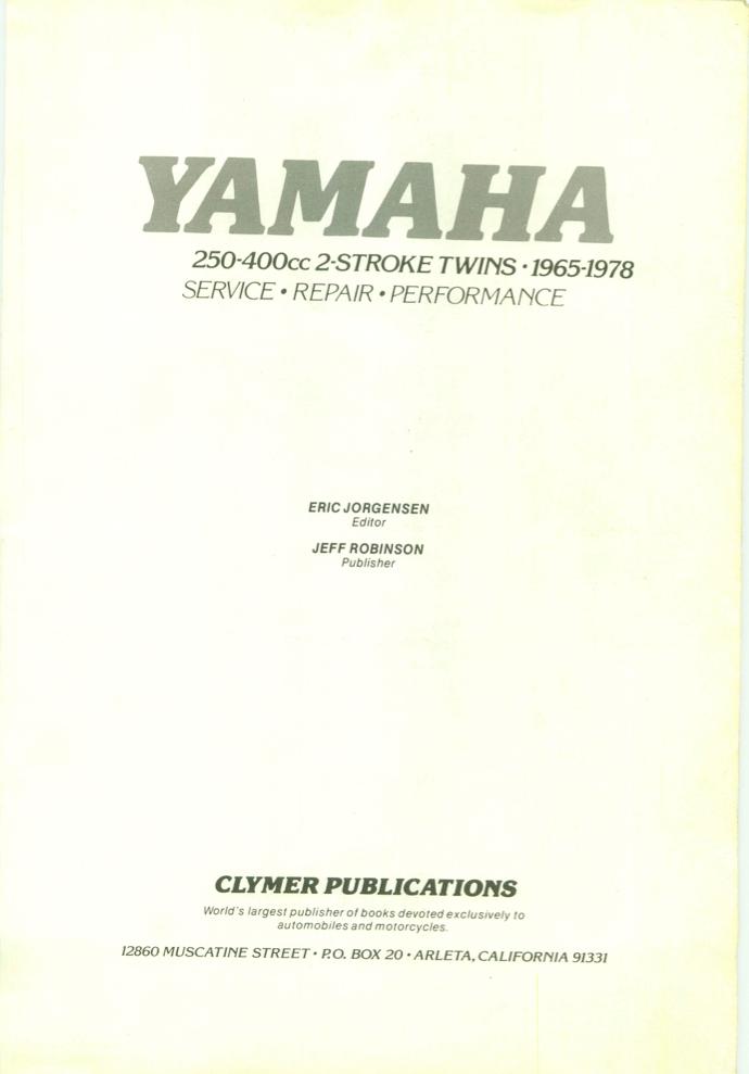 Yamaha 2 Stroke Twins