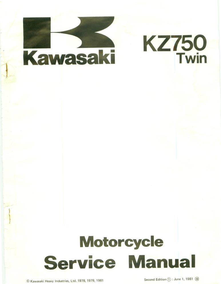 Kawasaki KZ750 G 78-81
