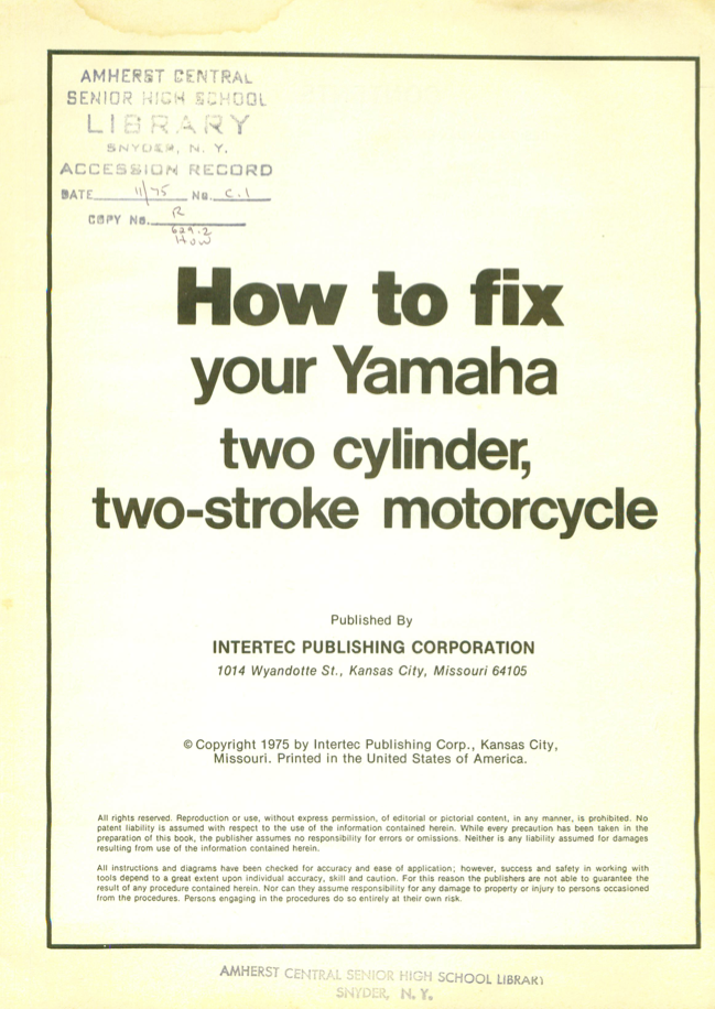 How to Fix your Yamaha 2 Stroke