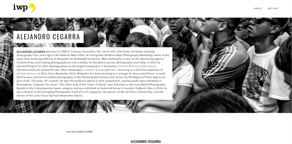 Photo essays were coded slightly differently; the header image comes from the actual essay.