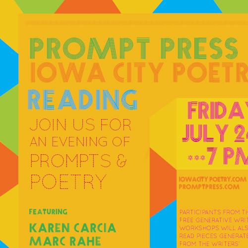 Prompt Press & Iowa City Poetry Reading Advertisement (2015)
