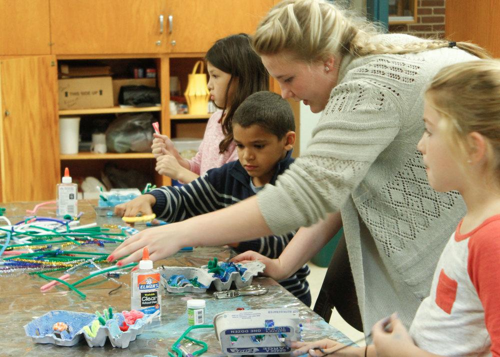 Sidney Dombrowski  UW-Stout Art Education INTERNSHIPS: 1Arts and Crafts, Jumpstart After School Program, Menomonie Parks and Recreation (Fall and Spring Internships)