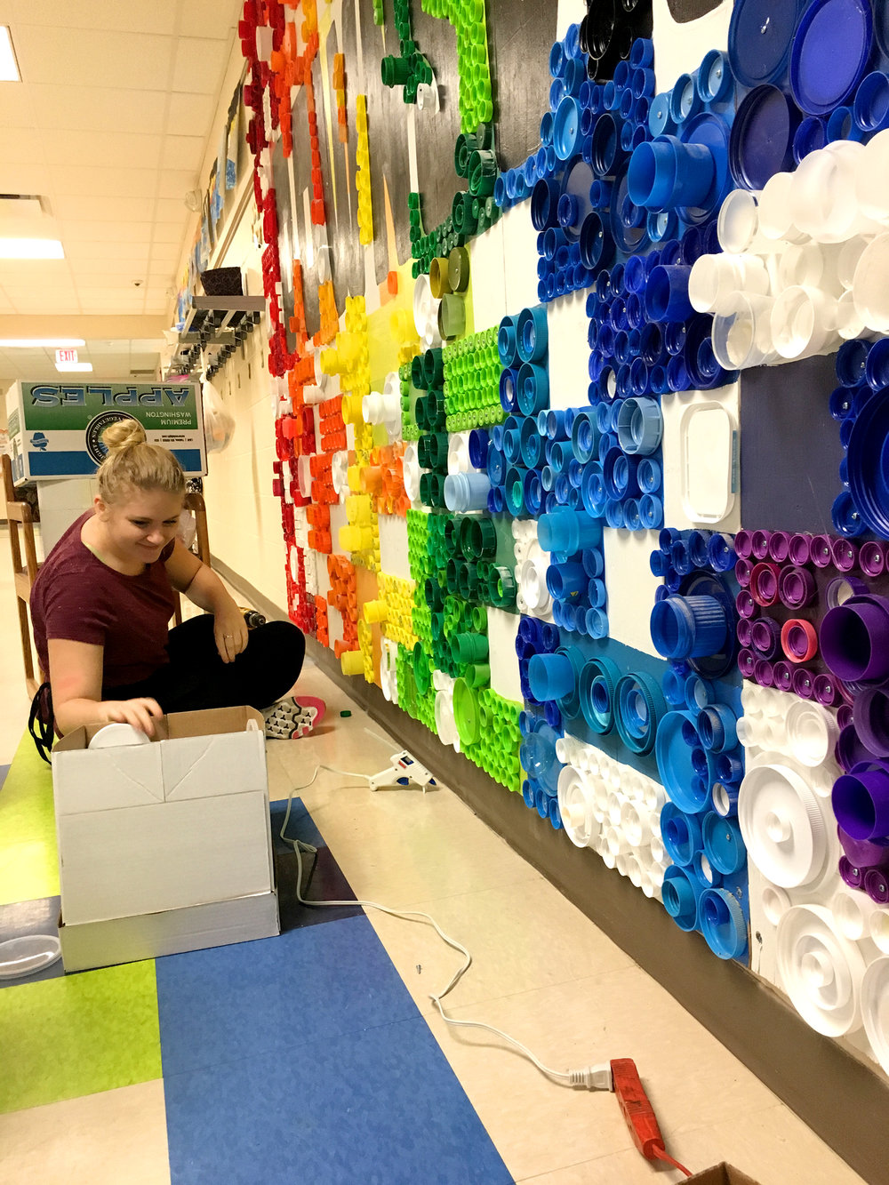 Abby Henderson  UW-Stout Art Education INTERNSHIP: Downsville Sustainability Mural, Downsville Elementary School
