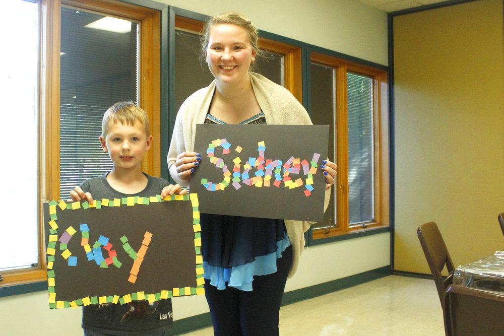 Sidney Dombrowski  UW-STOUT Art Education INTERNSHIP: Jumpstart Afterschool Program, Parks and Recreation