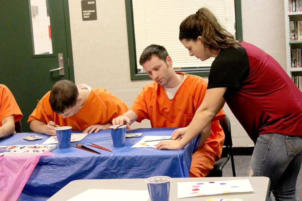 Becca Handy  UW-Stout Art Education INTERNSHIP: Watercolor classes, Dunn County Jail