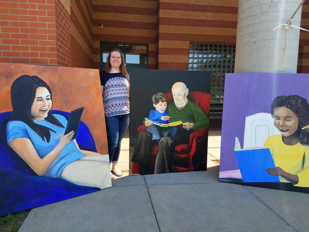 Nicole Seidler  UW-Stout Art Education INTERNSHIPS: 1) Thursday Thrill Seekers, Leisure Center, 2) Art at the Arc, Arc of Dunn County, 3) Library Canvas project, Oaklawn Elementary