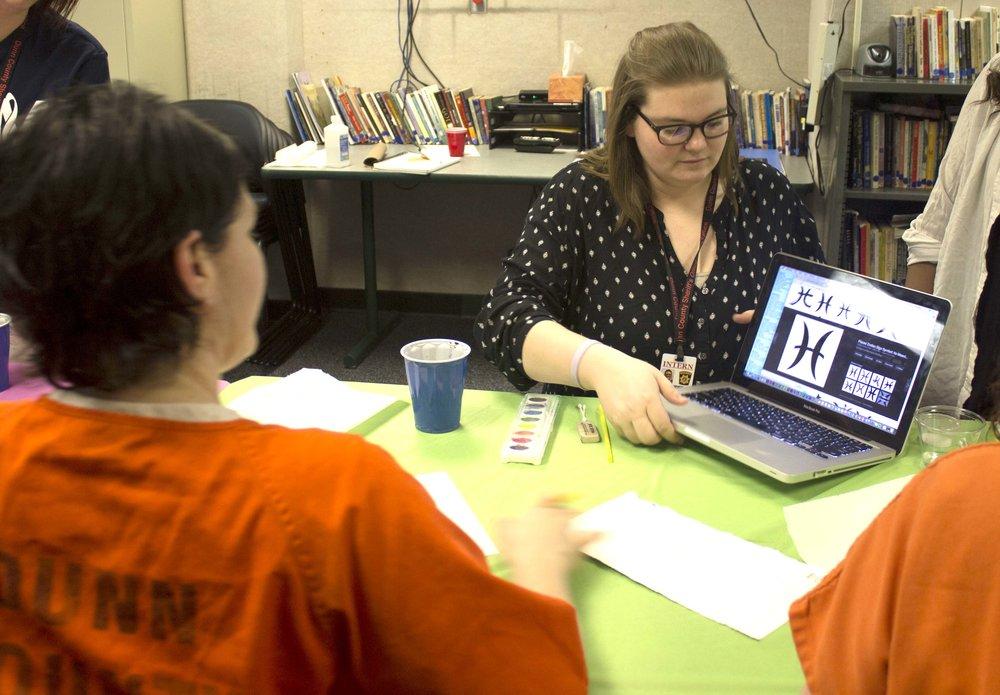 Sierra Thomforhda  UW-Stout Art Education INTERNSHIP: Watercolor classes for inmates, Dunn County Jail