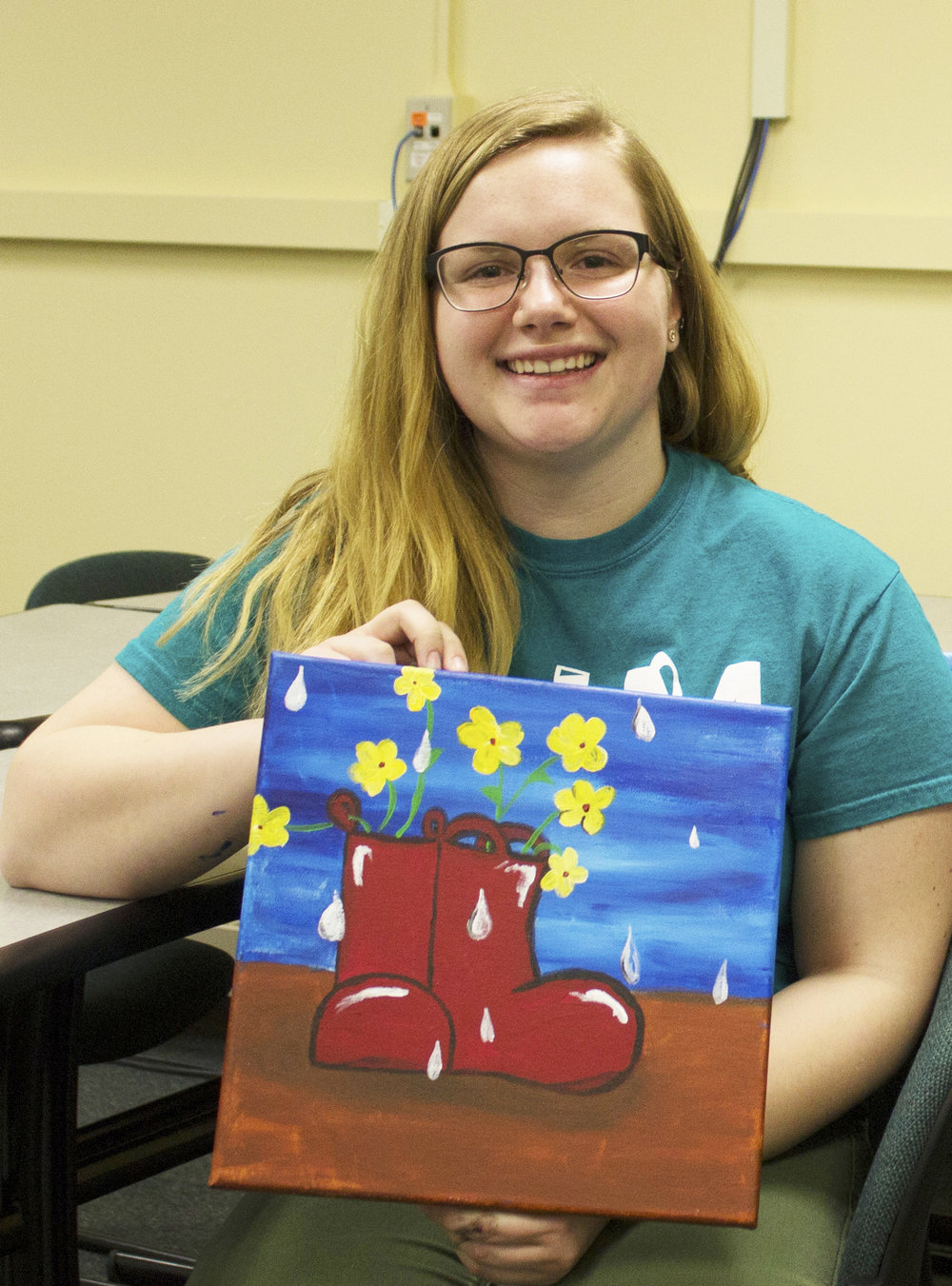 Cierra Hurlbert  UW-Stout Art Education INTERNSHIP: Canvas Fridays, Mabel Tainter Center for the Arts