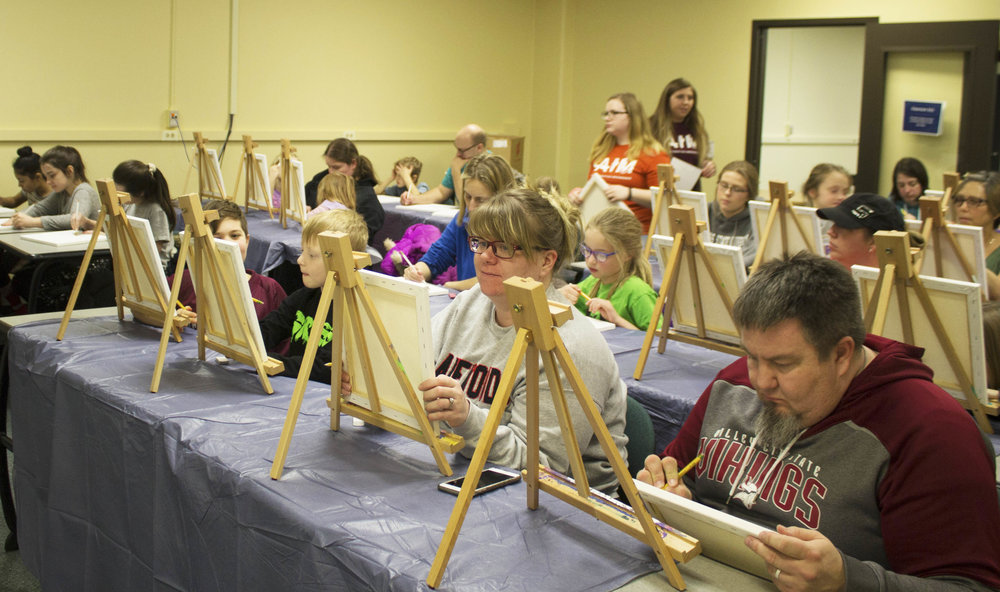 Canvas Creations - Sundays, 6-8pm, UW-Stout Library, 2nd Floor