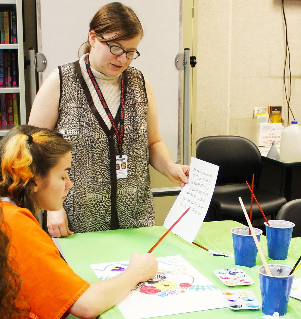 Crysta bedard  UW-Stout ART EDUCATION INTERNSHIP: Watercolor Classes, Dunn County Jail