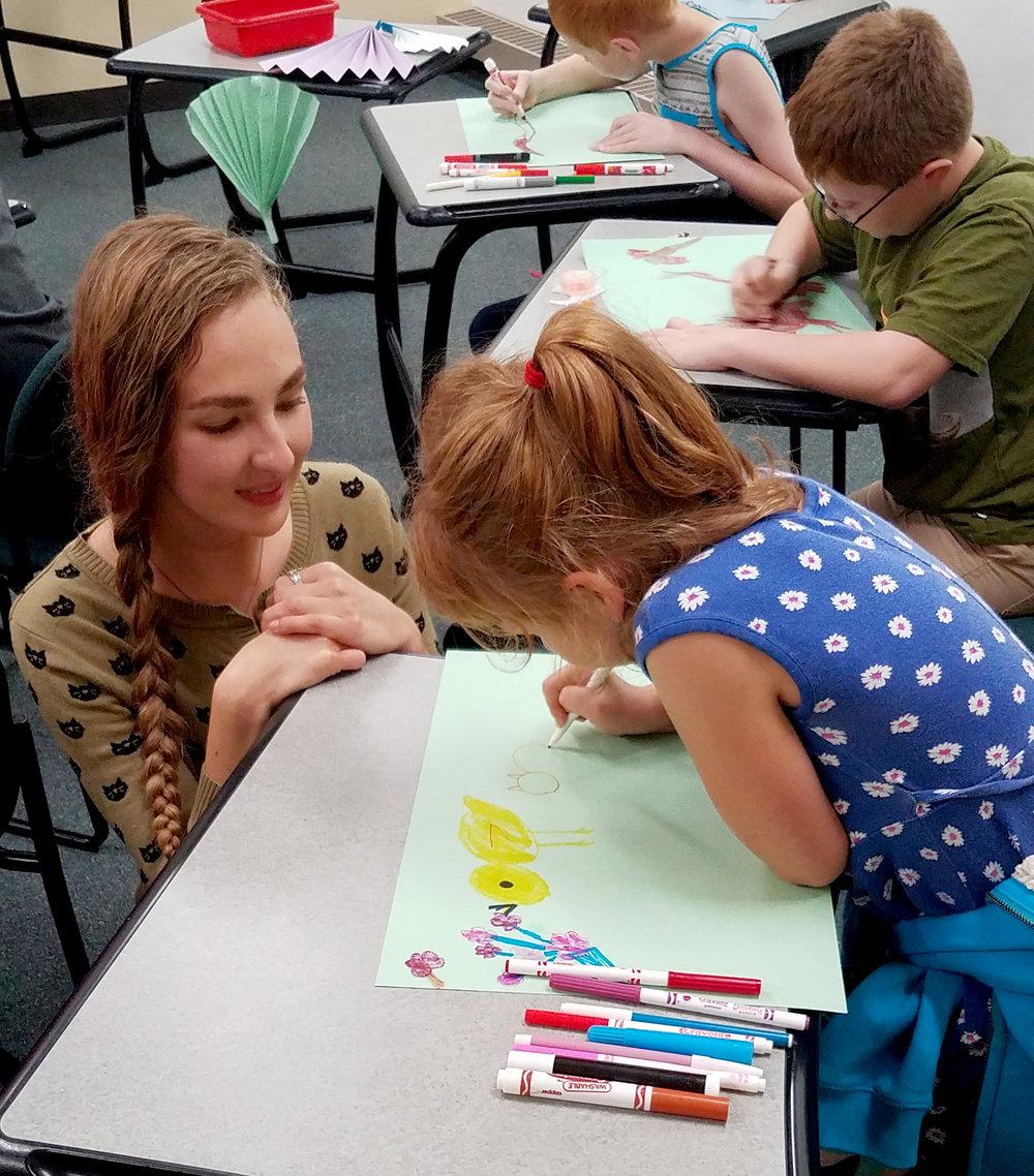 CHLOE HALVERSON,  UW-STOUT ART EDUCATION Internship: Children's Art Club Coordinator, UW-Stout