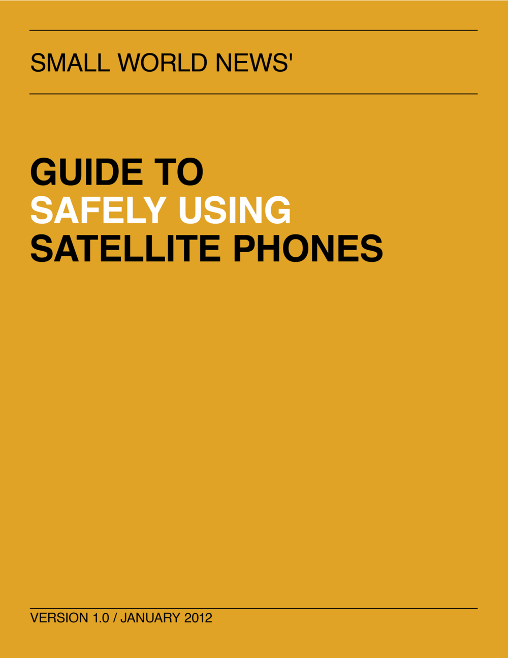 Guide to safely using satellite phones cover